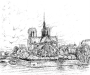 Sketch of Notre Dame, Paris (DW-018)