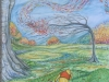 """""""Seasons series""""- Autumn, blustery day with Pooh and Piglet"""