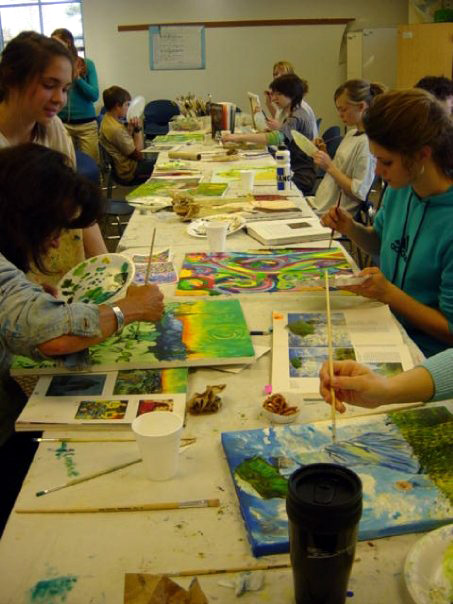Lisa Wright Painting Class