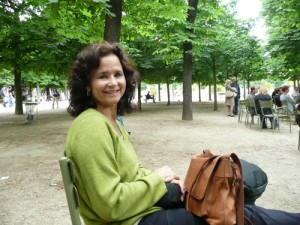Lisa Wright in Tullieres Garden, Paris